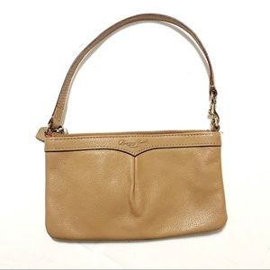 DOONEY & BOURKE Small Tan Leather Wristlet Purse
